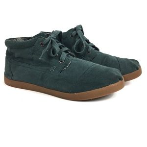 Toms Green Suede Leather Botas Chukka Boots Size 8